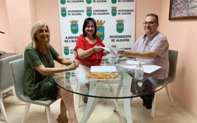El Ayuntamiento de Algueña y Sense Barreres firman un convenio de colaboración