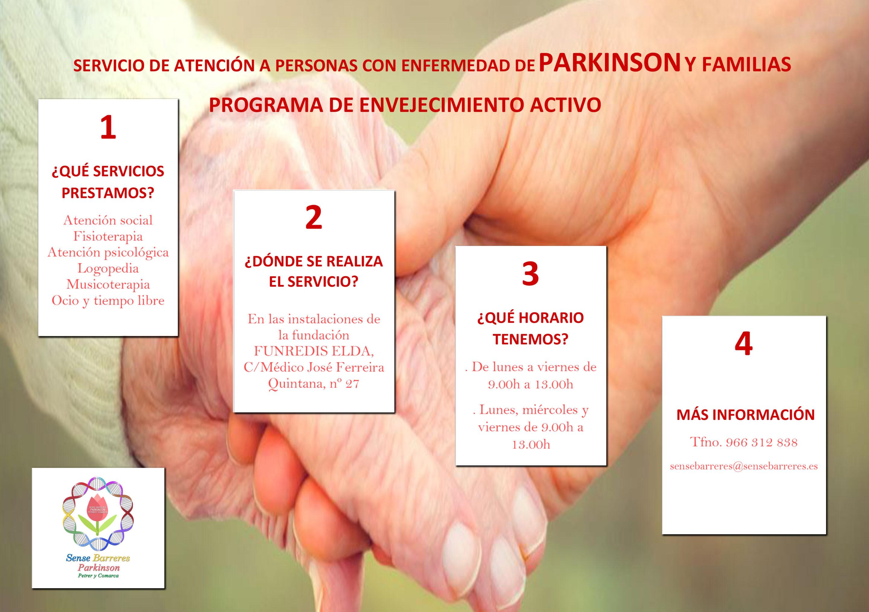 SERVICIO DE ATENCION A ENFERMOS DE PARKINSON, SUS FAMILIAS Y ENVEJECIMIENTO ACTIVO