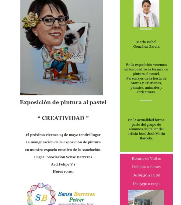 """Exposición de pintura al pastel  """" CREATIVIDAD """""""